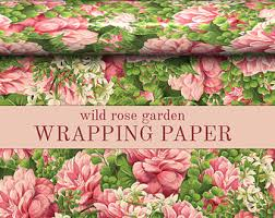 floral printed tissue paper wrap floral wrapping paper etsy