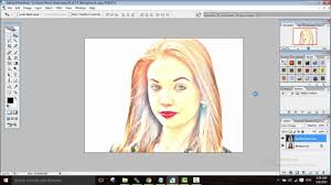 photoshop tutorial for beginners how to color sketch a photo youtube