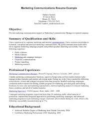 Marketing Achievements Resume Examples by Marketing Communications Manager Resume Example Essaymafia Com