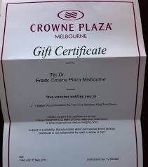 hotel gift certificates compensation clinic pool renovation at crowne plaza melbourne