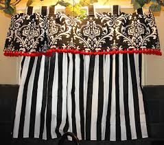 Cape Cod Kitchen Curtains by Bold Black And White Kitchen Curtains With Red By Originalsbyeva