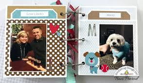 dog scrapbook album artsy albums mini album and page layout kits and custom designed
