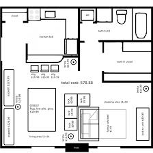 interior apartment studio layout for marvelous super simple