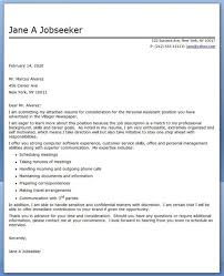 personal assistant cover letter format