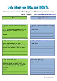 job interview business lesson based on four skill activities