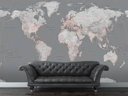 Map Wallpaper Map Wallpaper Wall Murals New World Mural World Map Wall Mural