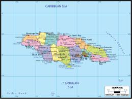 jamaica physical map map of jamaica political physical and road map of jamaica