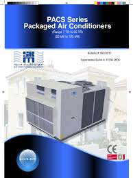 pacs air conditioning heat exchanger