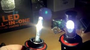 Led Light Bulbs For Headlights by 9000 Lumen All In One Led Headlight Conversion Kits 160w Youtube