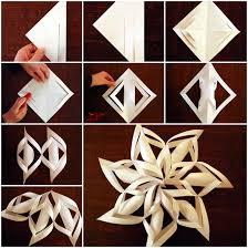 diy 3d paper snowflake ornaments beesdiy