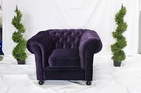 Funky Armchairs Purple Velvet Chesterfield Inspired Armchair Funky Furniture Hire