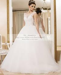 princess ball gown wedding dresses illusion neckline vintage lace