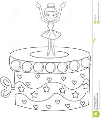 ballerina music box coloring page stock illustration image 53482163