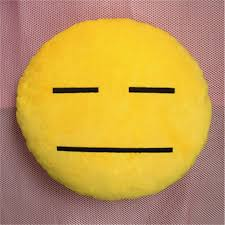 creative plush stuffed squinting emoticon emoji cushion pillow