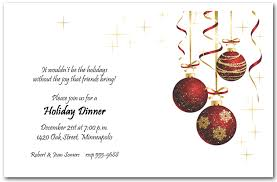 ornaments and gold starlights invitation christmas