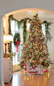 stunning tree and beautifully decorated home