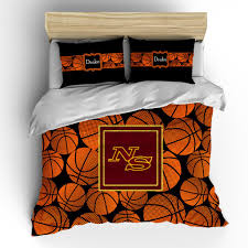 basketballs theme monogram bedding set duvet or comforter