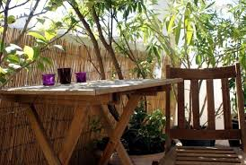 bamboo balcony privacy screen u2013 ideas with plants carpets and