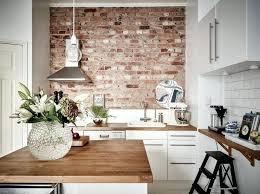 cuisine mur credence cuisine imitation cuisine en brique mur idace