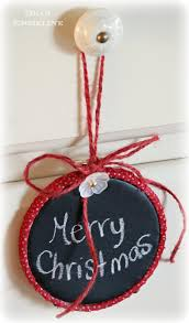 chalk cloth hoop ornaments