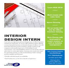 Interior Design Sales Jobs by Interior Design Intern Flyer Idcod