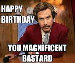 Birthday Girl Meme - magnificent bastard funny happy birthday meme neon moon
