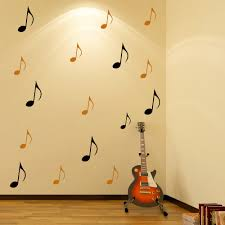 quaver silhouette wall stickers creative multi pack wall decal art