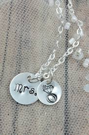 diamond ring necklace images Mrs necklace unique engagement gift idea for friends amanda png