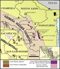 Zacatecas Mexico Map by Late Triassic Stratigraphy And Facies From Northeastern Mexico