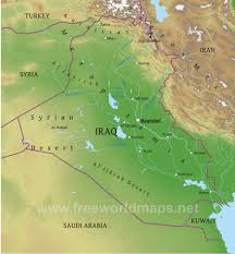 Middle East Physical Map by Iraq Physical Map