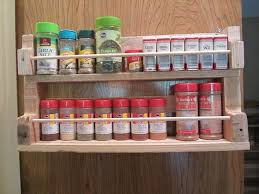 Red Spice Rack Pallet Spice Racks For Kitchen Recycled Things