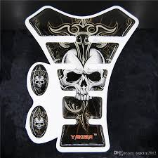 kawasaki emblem 2018 2016 moto yakuza skull motorcycle sticker gas tank pad