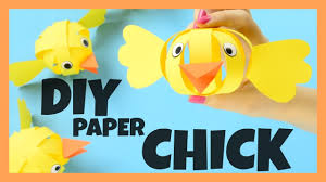 make a simple paper easter craft idea for