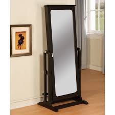 Real Wood Armoire Decorating White Solid Wood Cheval Mirror For Home Furniture Ideas