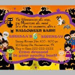 create easy halloween birthday party invitations templates designs