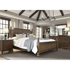 king poster bedroom set liberty furniture hearthstone 4 piece king poster bedroom set in oak
