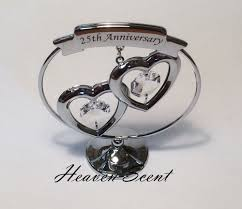 25th silver wedding anniversary gift ideas with swarovski crystals
