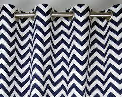 Gray And White Chevron Curtains Chevron Curtains Etsy