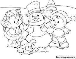 coloring page snowman family snowman family coloring pages coloring page snowman sheet of kids