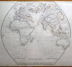 Map Of The Western Hemisphere World Eastern U0026 Western Hemispheres Pair Of Sharpe Original