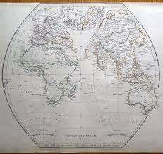 Blank Map Of Eastern Hemisphere by World Eastern U0026 Western Hemispheres Pair Of Sharpe Original