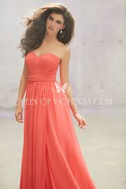 multiway ruched chiffon floor length long coral bridesmaid gown