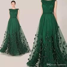 green tulle 2018 zuhair murad dress emerald green tulle cap sleeve