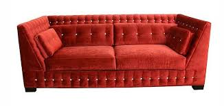 Who Makes The Best Quality Sofas 3900 Super Luxe Red Velvet Sofa Tufted With Swarovski Crystals