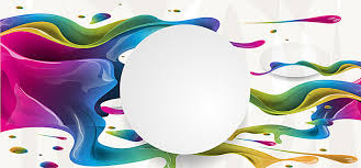 colorful paint splash background vector banner material colorful