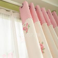 Light Pink Curtains Floral Pattern Light Pink Curtains For Bedroom