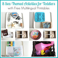 8 sea themed montessori inspired tot trays with free printables