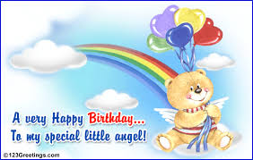 birthday cards for kids to my special angel free for kids ecards greeting cards 123