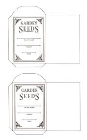 seed envelopes flowers and a seed packet pattern content in a cottage