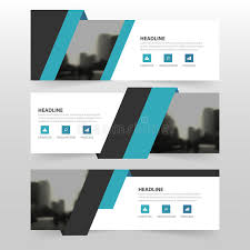 layout banner template blue black corporate business banner template horizontal